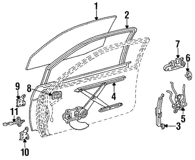 Genuine Toyota 69260-16010-22 Window Regulator Handle Assembly