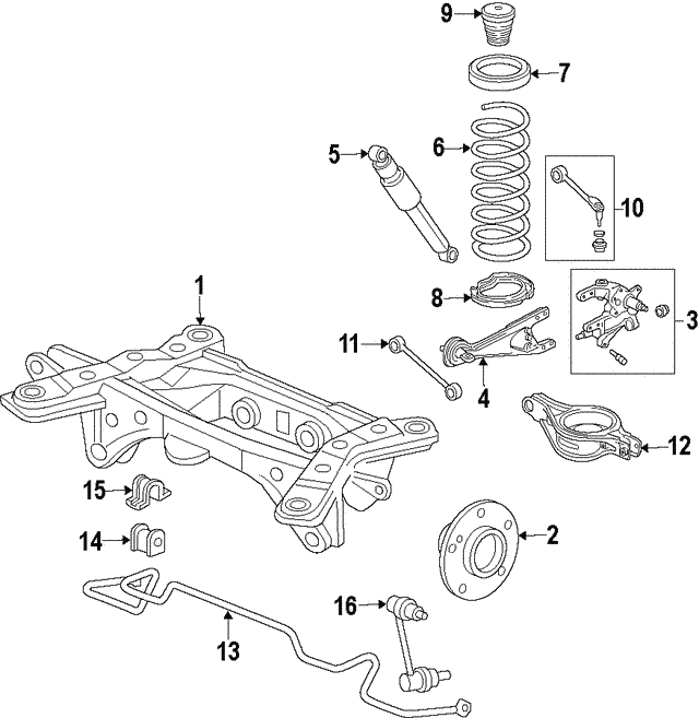 Shock Absorber Assembly, Rear - Honda (52610-SZA-A04)