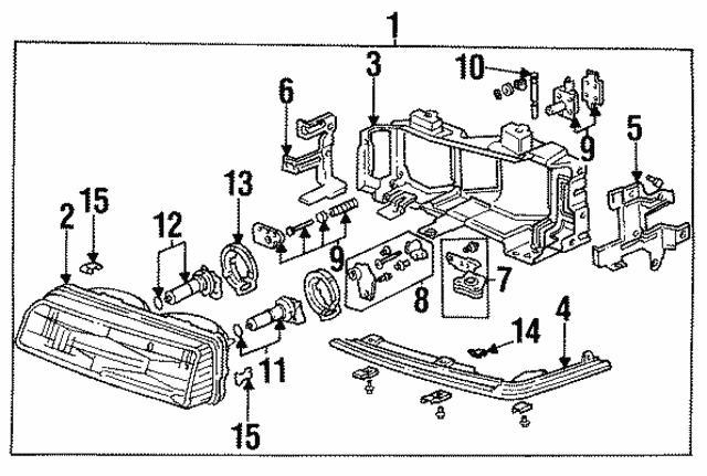 Headlight Unit, L - Acura (33160-SD4-A02)