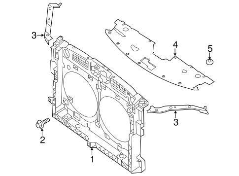 Radiator Support For 2014 Nissan Pathfinder