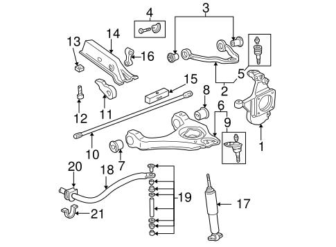 Suspension Components For 2003 Chevrolet Silverado 2500 Hd Gm Parts Online