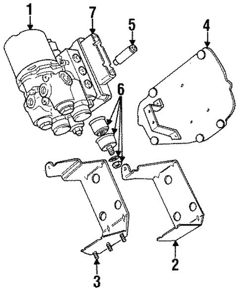 Abs Components For 1996 Jaguar Xj6