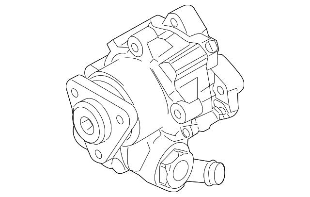 2005 Audi A6 Quattro Power Steering Pump 4f0 145 155 C