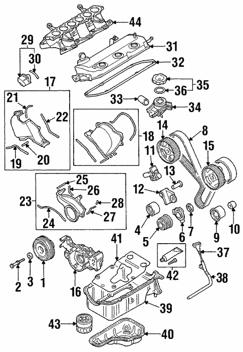 Engine Parts for 1998 Mitsubishi Montero | Auto Parts | 1998 Mitsubishi Montero Engine Diagram |  | Mitsubishi Parts Warehouse