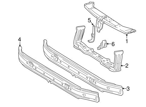 Radiator Support for 1996 Mercedes-Benz E 320 #0