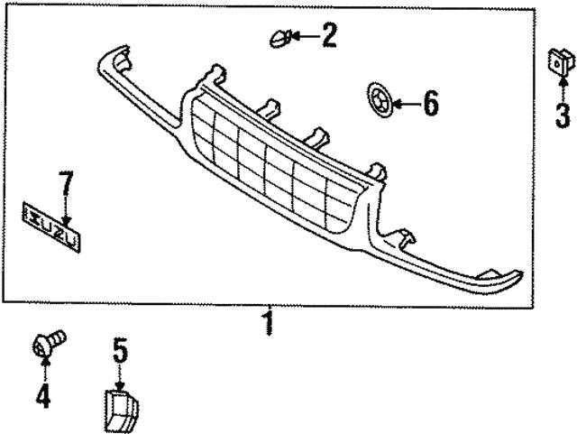 grille clip