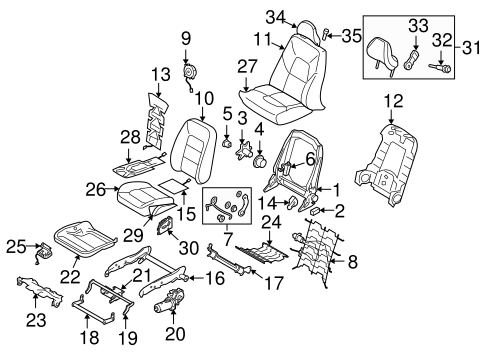 Driver Seat Components For 2015 Volvo Xc70