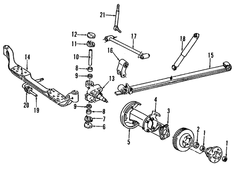 Front Suspension for 2000 GMC Yukon #2