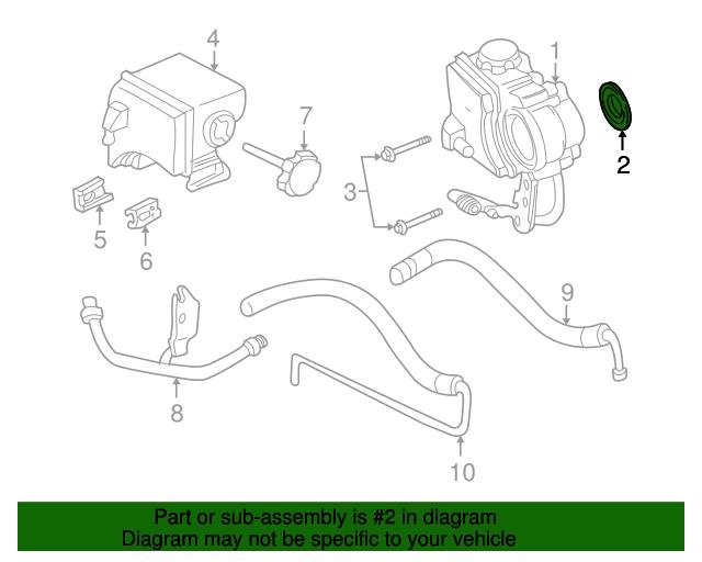 power steering pump seal gm 12578146 gmpartsdirect com rh gmpartsdirect com gm type ii power steering pump parts diagram gm saginaw power steering pump parts