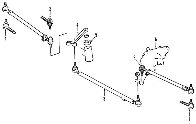 center link - mercedes-benz (124-460-12-05)