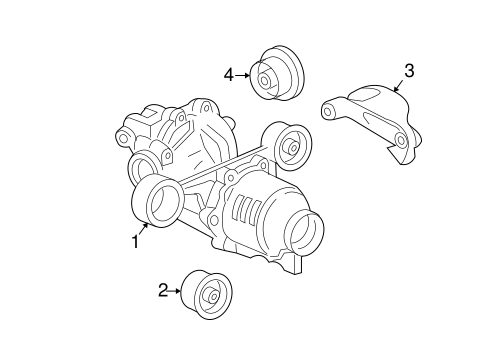 Axle Differential For 2006 Pontiac Torrent