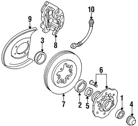 Brakes/Front Brakes for 1994 Nissan D21 #2