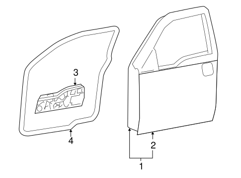 Door Components For 2005 Ford F 150