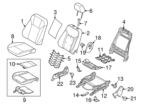 Passenger Seat Components For 2013 Ford Fiesta