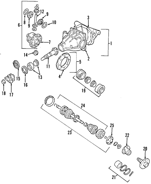 oem 2001 cadillac catera differential parts
