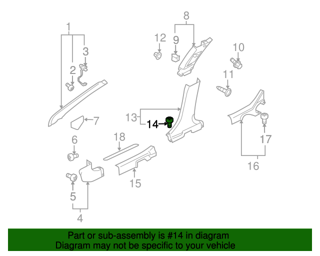 Mitsubishi Door Trim Panel Clip Mu000504