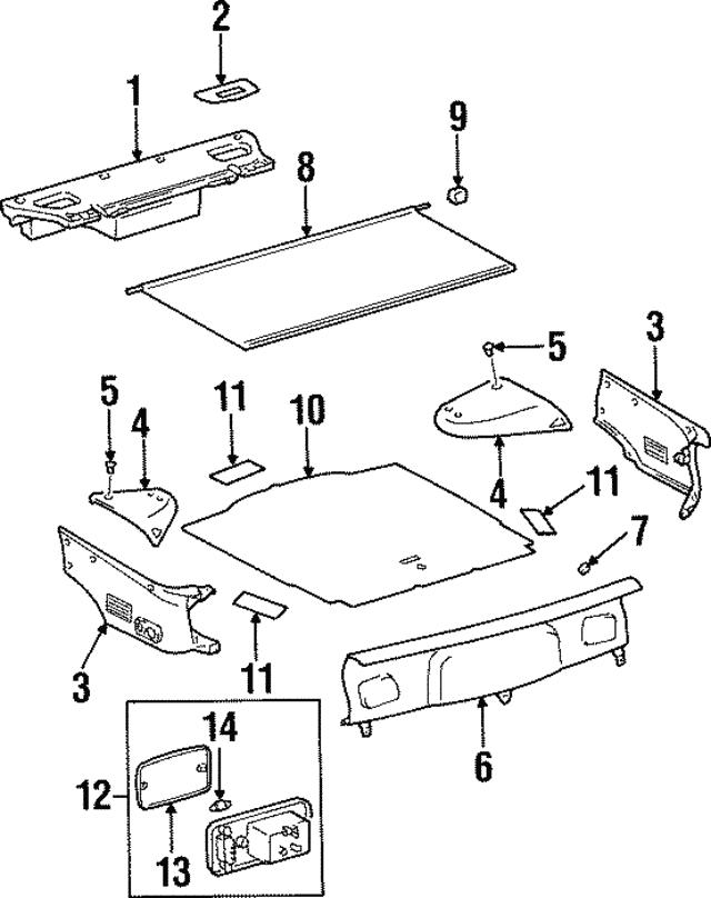 1993 1998 Toyota Supra Trunk Lamp 81250 14030 C0