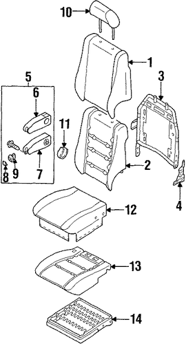 Pad, Front Seat Cushion