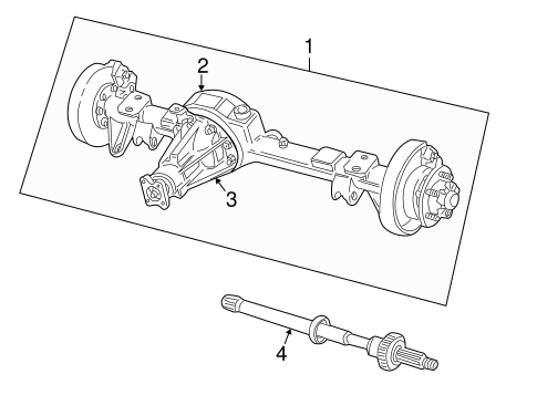 Axle Housing For 2002 Land Rover Discovery