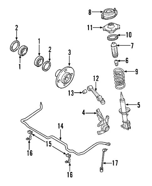 front suspension for 2002 kia rio