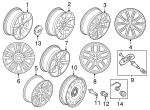 Wheel, Alloy - Ford (FB5Z-1007-D)