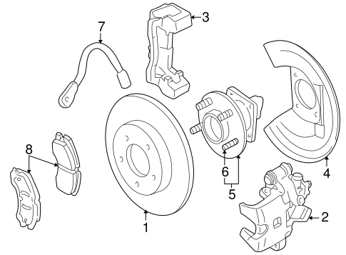 Brake Components For 2004 Cadillac Seville