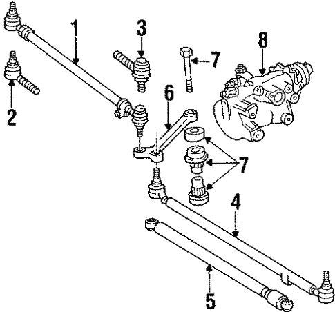 Steering Gear & Linkage for 1995 Mercedes-Benz E 320 #1