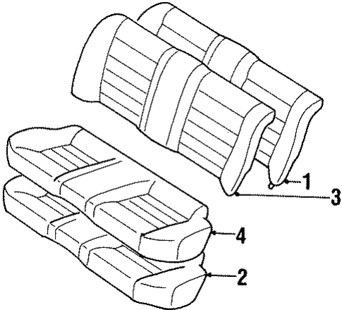 Rear Seat Components For 1997 Toyota Corolla