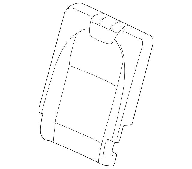2019-2020 Acura MDX 5-DOOR Cover, R Rear Seat-Back Trim