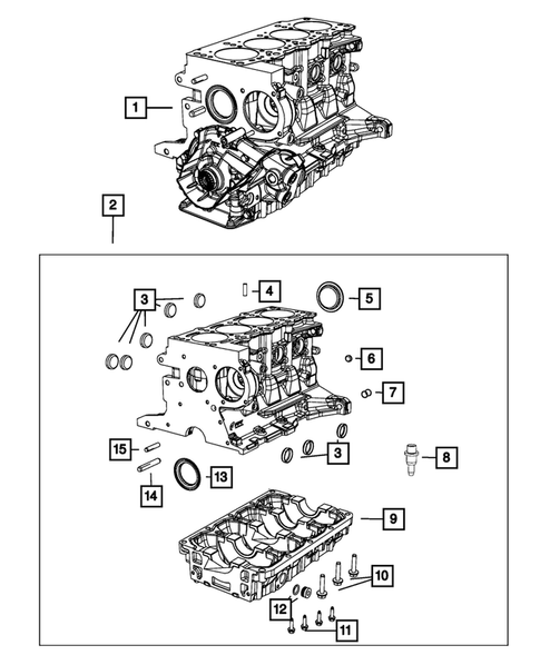 Cylinder Block for 2015 Jeep Renegade #1