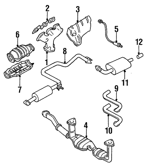 Exhaust Components For 1999 Nissan Maxima Conicelli Nissan Parts