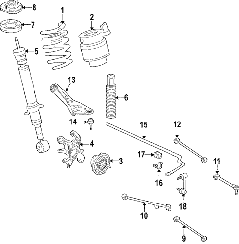 Rear Suspension/Rear Suspension for 2011 Ford Expedition #1