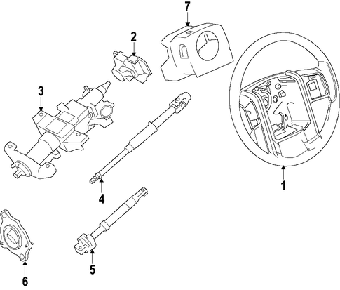 Steering Column For 2008 Ford F 250 Super Duty Silver