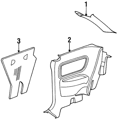 Interior Trim - Quarter Panels for 1992 Saturn SC #0