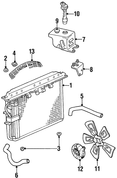 radiator  u0026 components for 1996 jeep grand cherokee