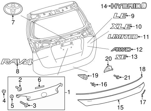 Lower Trim Protector Toyota 76821 0r050