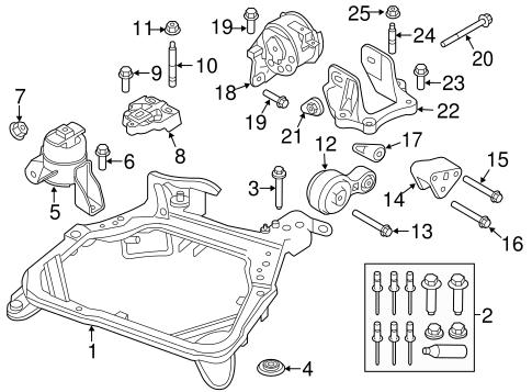 Ford Fusion Engine Mount Diagram Schematics Online