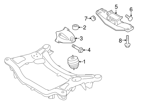 Genesis Coupe Engineengine Trans Mounting Parts
