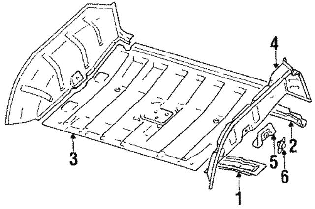 1989 1995 Suzuki Sidekick Floor Pan 6211160a30