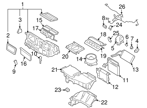 diagram ac avaporator 2006 lincoln zephyr  lincoln  auto