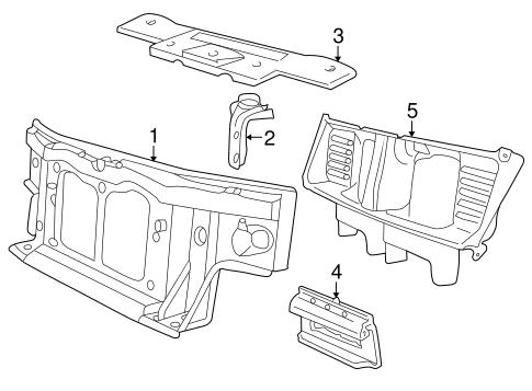 radiator support for 2004 lincoln aviator. Black Bedroom Furniture Sets. Home Design Ideas