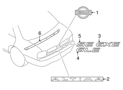 body/exterior trim - trunk for 2000 nissan altima