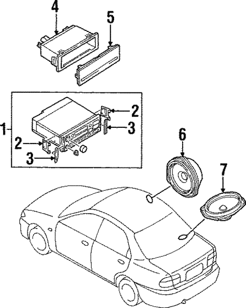 Sound System for 1997 Mazda Protege #0