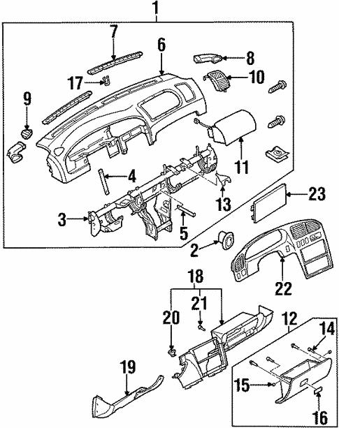Instrument Panel For 2001 Kia Sephia