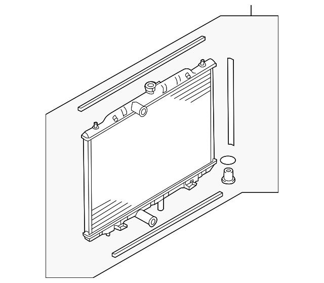 Radiator Assembly Nissan 21460 4ba0a Courtesy Parts