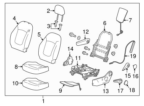 Oem 2019 Chevrolet Spark Driver Seat Components Parts