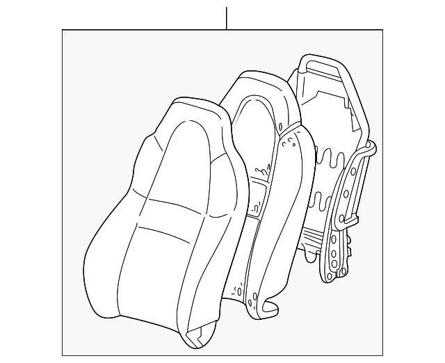 2000 2002 Toyota Mr2 Spyder Seat Back Assembly 71430 17430 B0