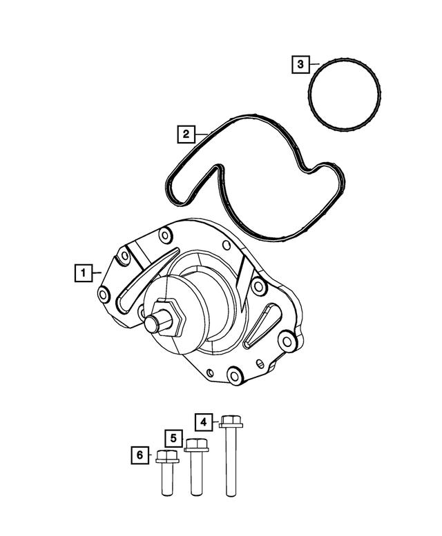 MOPAR 04659430AB Engine Water Pump Seal