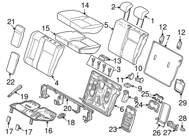 Oem Land Rover Seat Belt Guide Part No Lr009813