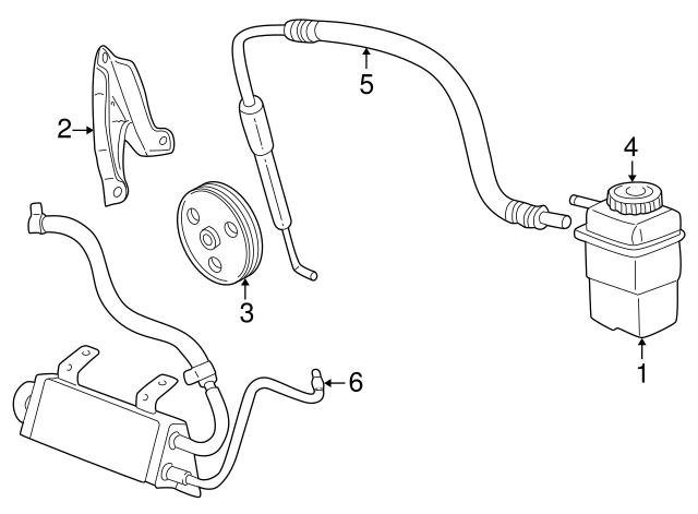 2000 2005 Dodge Neon Power Steering Pump Bracket 4668785aa